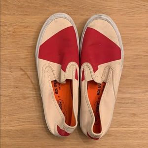 Sperry Top Sider x Jack Soade red and ivory mens
